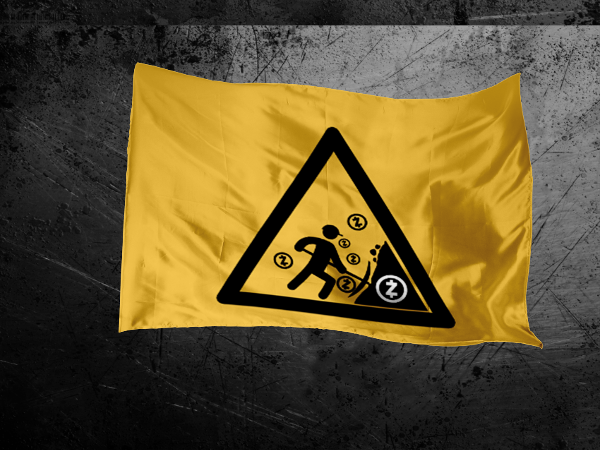 Caution ZCash Miner Flag